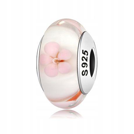 Charms Murano Kwiaty Wkręcany do Pandora srebro925