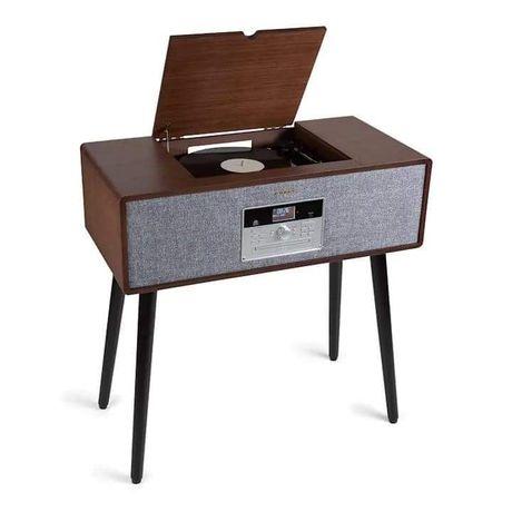 Auna Julie Ann wieża stereo - Gramofon BT USB DAB+/UKF, AUX-In,