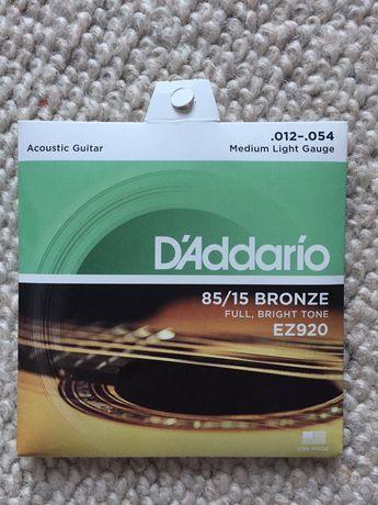 Struny do gitary akustycznej D'Addario