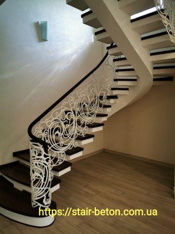 Сходи з бетону (лестницы бетонные)