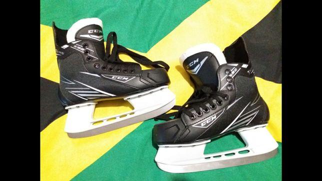 Коньки детские хоккейные новые и б.у.=ССМ=-38-36-30-=Bauer=