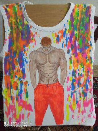 Рисую акрилом по ткани