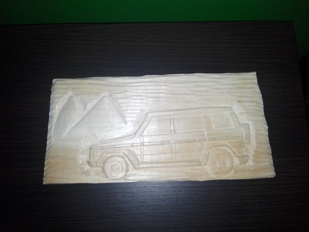 G KLASA płasko rzeźba w drewnie