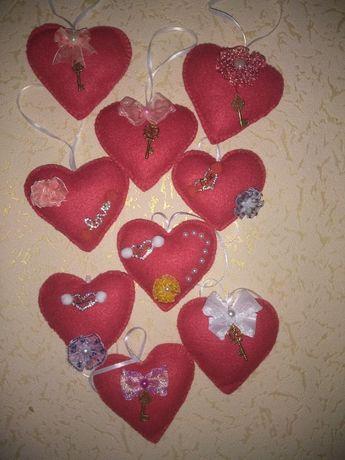Валентинка из фетра Сердце с ключиком