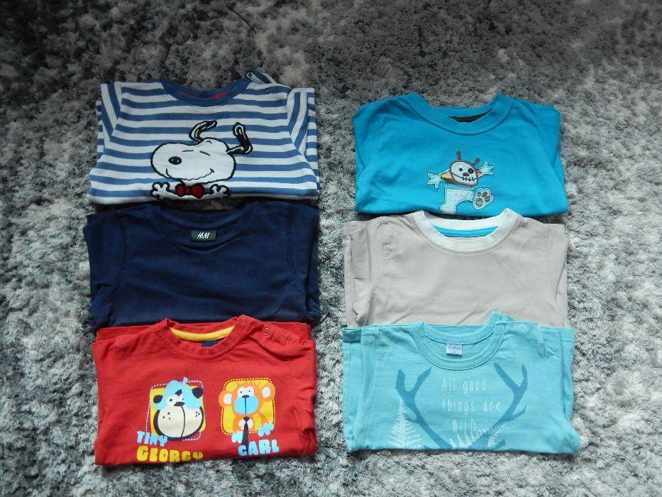 bluzki z dł. rękawem i bluza dla chłopca rozm. 86 Warka - image 1