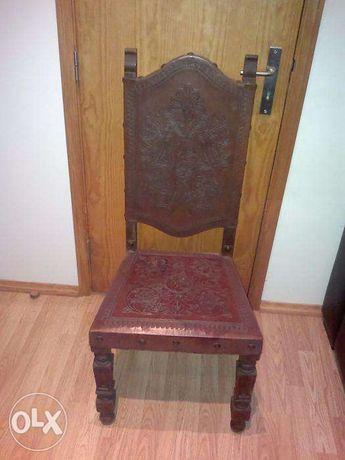 cadeira pele antiga