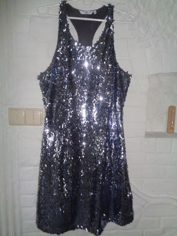 Sukienka cekiny rozm 44 cudna