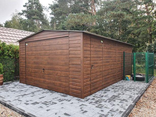 Garaż blaszany, schowek, wiata, drewnopodobny, Premium, 4x6 Producent