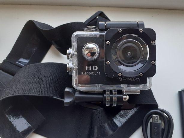 Экшн-камера Sigma x-sport C11+ Флешка+ Доп крепления