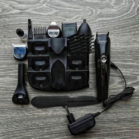 Мужской аккумуляторная машинка для стрижки бороды + триммер для носа