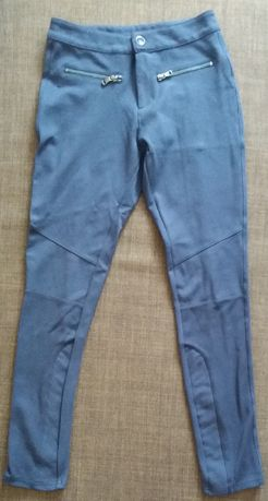 Granatowe spodnie rurki rozmiar S