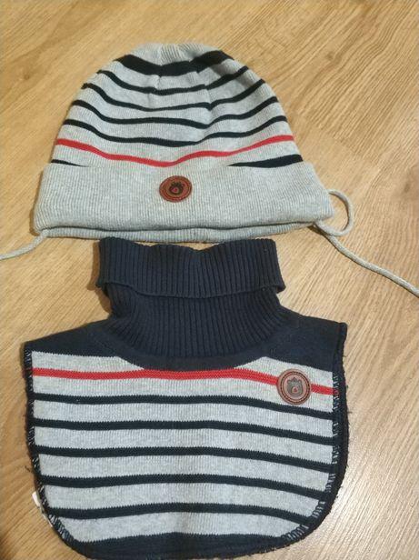 Теплая шапка на флисе, хомут, шарф reserved