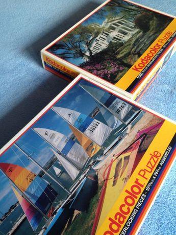PUZZLE Kodak - 2 opakowania - 1000 - lata 90