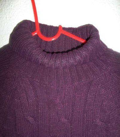 Camisola de gola alta roxa