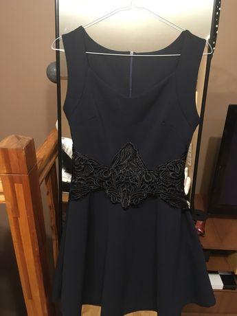 Granatowa sukienka S/M mini