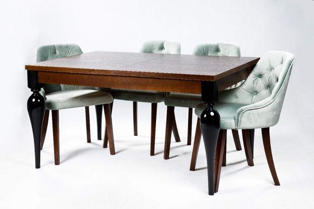 Stół Modena 200/300x100cm + 12 Krzeseł pikowanychz kołatką