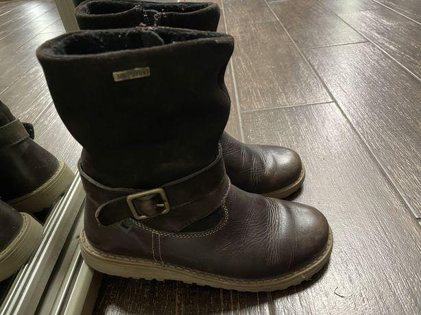 Buty dzieciece skórzane, kozaczki, sztyblety- skóra rozm. 32
