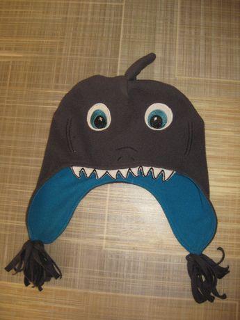 Шапка флис акула Childrens Place 2-4 года и шлем дешево