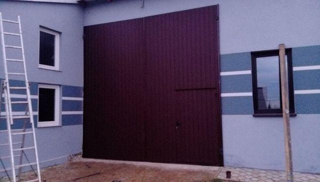 Drzwi bramy garażowe wrota hale wierzeje do stodoły