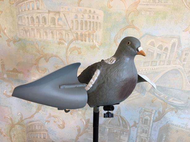 Чучело Махокрил голуба Вяхиря моторизований на пульті д\к
