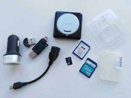 Адаптер, плеер, карта памяти, переходники,