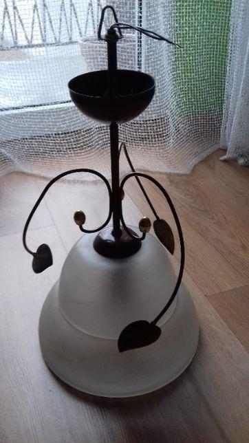 Lampa z motywem florystycznym + żarówka enegooszczędna