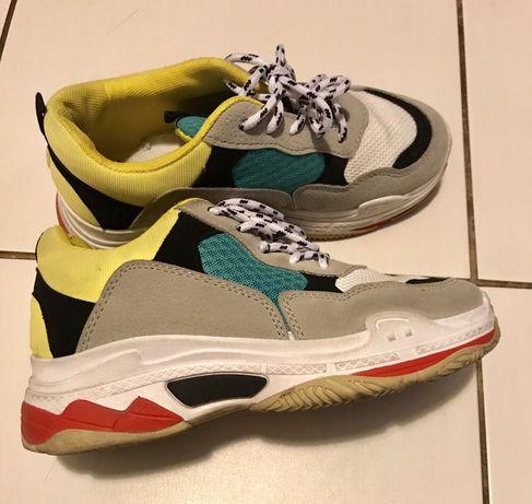 Sneakersy kolorowe 36 buty sportowe trampki