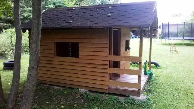 domek drewniany na działkę dla dzieci duży solidny