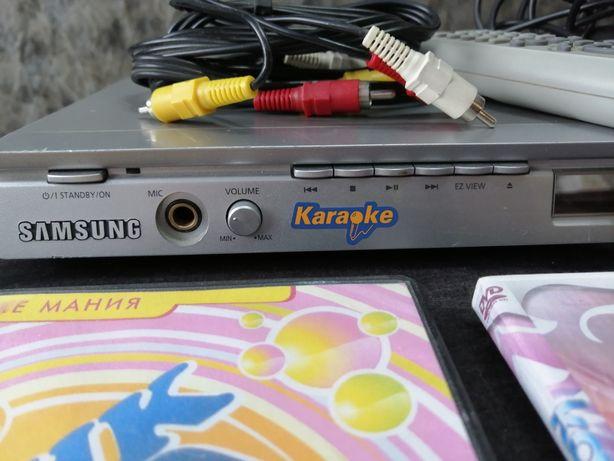 Караоке DVD самсунг с микрофоном и проводами