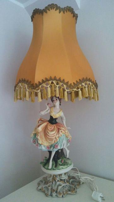 Lampa lampka porcelana onyx mosiadz