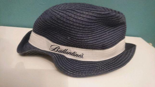 Granatowy słomkowy barmański kapelusz plażowy Ballantine's