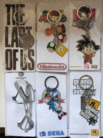 Porta Chaves Mário Goku GTA5 Sonic Last of Us Pendente Assassins Creed