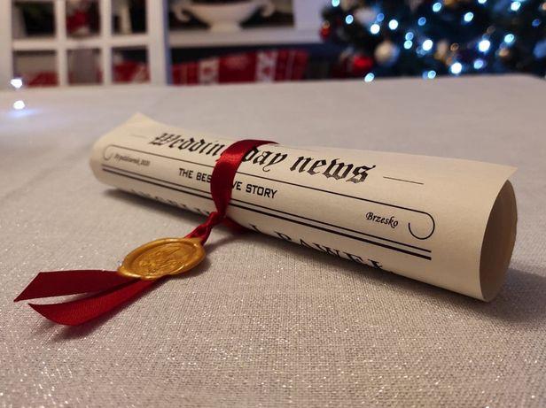Podziękowanie dla gości, upominek, prezent – Gazetka Weselna