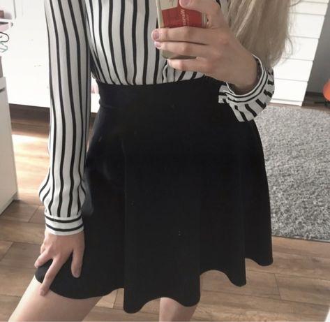 spódnica elegancka, czarna