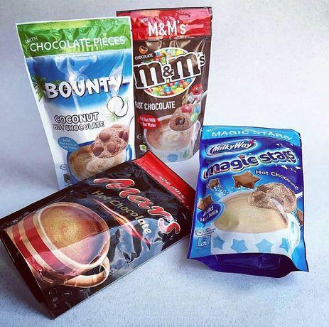 Гарячий шоколад відомих брендів Bounty, Milky Way, M&M's
