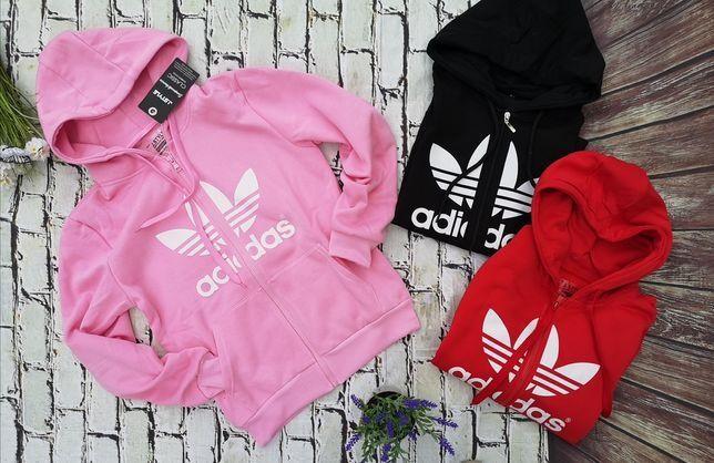 Bluzy damskie na suwak z logo Adidas kolory S-XL!!!