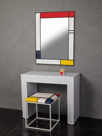 Комплект мебели (пуф 5 в 1, стул, зеркало,стол раздвижной)