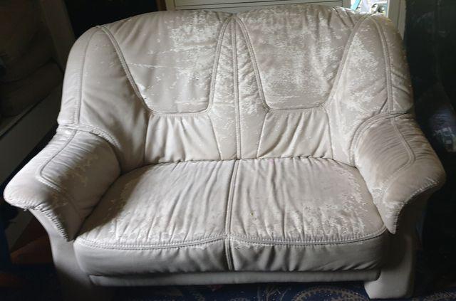 Kanapa 2os. i fotel rozkladany do renowacji
