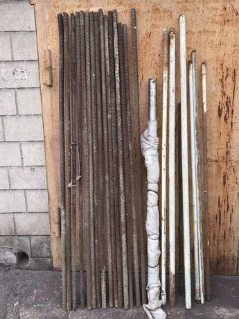 Куски арматуры, труб, уголок советский