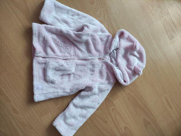 Ciepła różowa bluza r.80