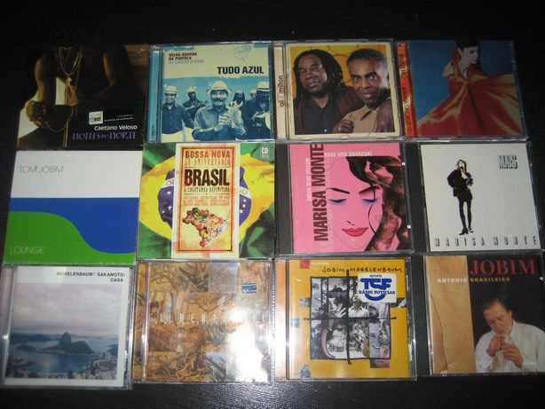 CDs música brasileira - Caetano, Chico, Gilberto, Jobim, Marisa Monte