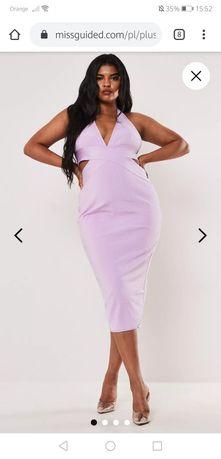 Sukienka Plus size Missguided liliowa rozmiar 44