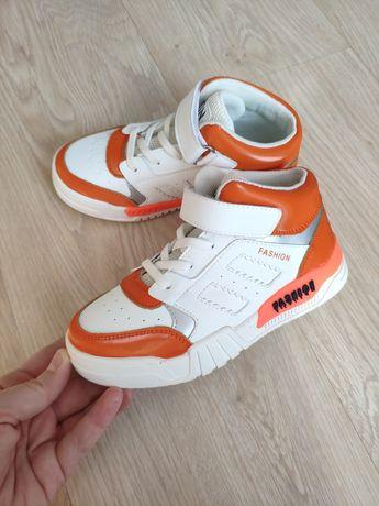 Стильные Деми хайтопы кроссовки кеды ботинки для мальчика для девочки