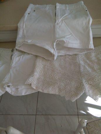 3 calções brancos
