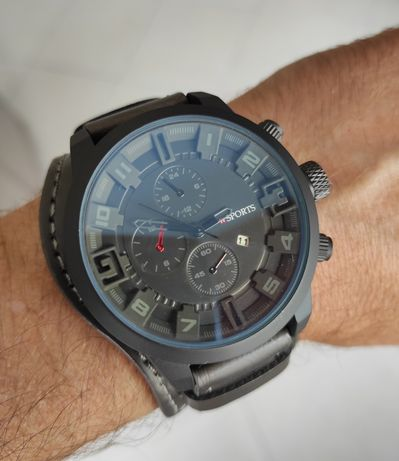 Relógio Novo cinza esverdeado