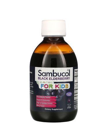 Sambucol, Черная бузина, Сироп для детей от 2х лет, 230 мл