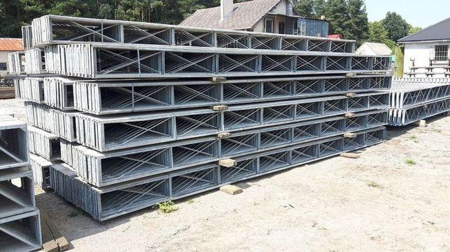 Konstrukcja stalowa hali wiaty magazynu obory kratownice dachowe belki