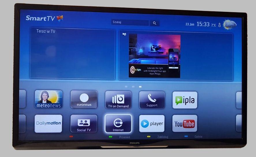 "42"" TV Led Philips SMART TV 200 Hz FULL HD 3D + okulary Nowy Sącz - image 1"