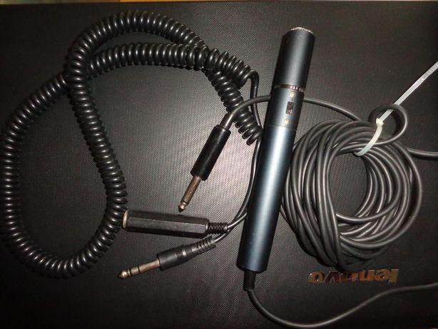 Mikrofon + dodatkowy kręcony kabel gruby Jack