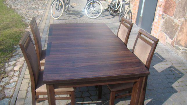Stół 90 cm x 160 cm plus krzesła olchowe